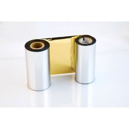 Ribbon-Foil Gold 110mm x 300mt per Trasferimento Termico