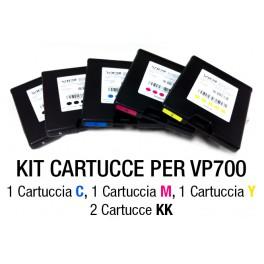 Kit Cartucce CMYKK per Stampante VP700