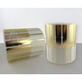 Etichette per Gioiellerie 74 x 10 mm in Oro metallico. Spadino con adesivo