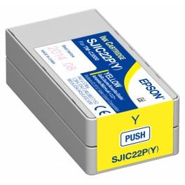 Cartuccia GIALLO pigmentato per stampante etichette Epson C3500